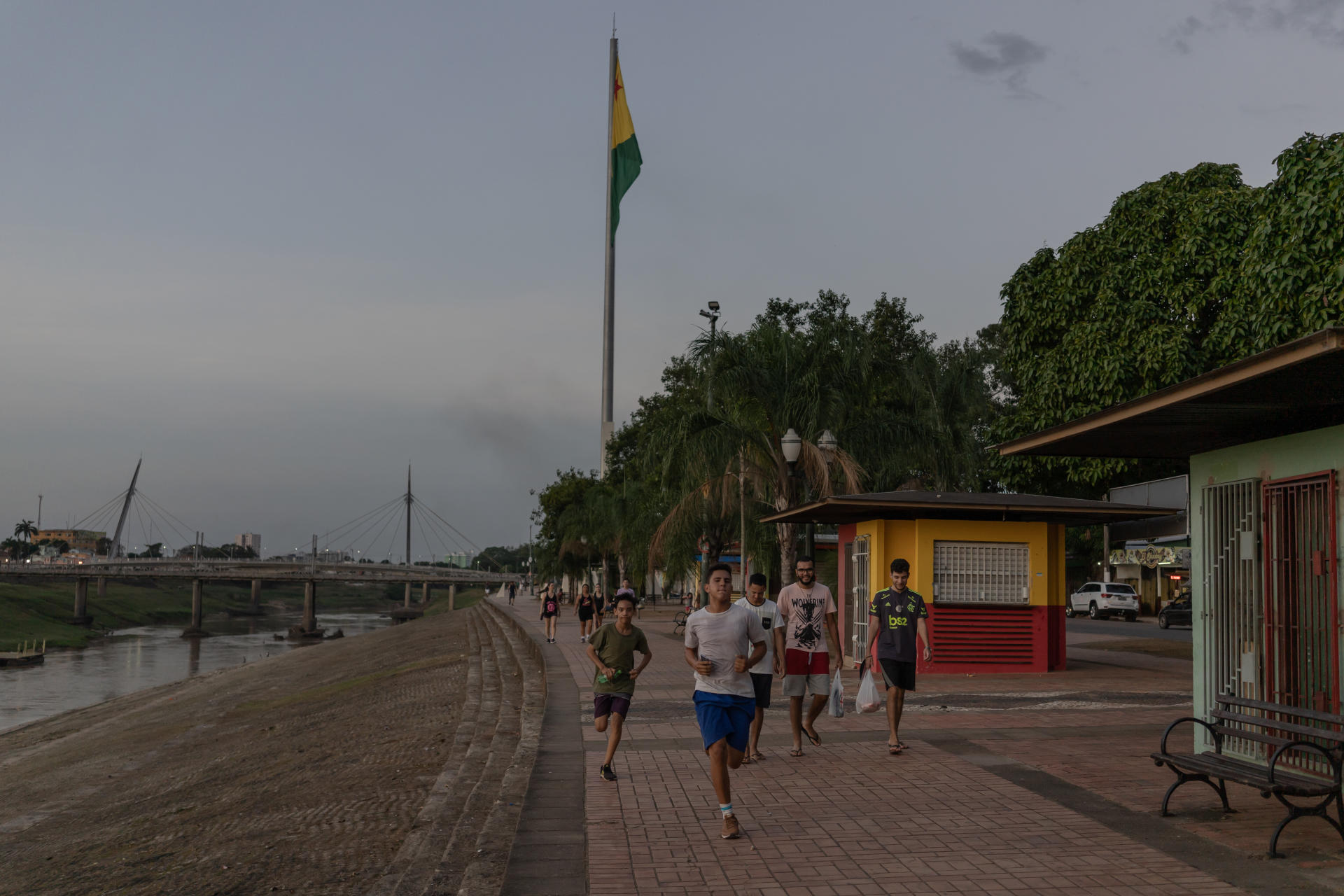 In the center of Rio Branco, the capital of Acre, on July 23, 2020.