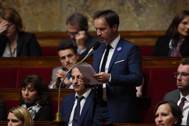 The deputy La République en Marche Cédric Roussel at the National Assembly, November 8, 2017.