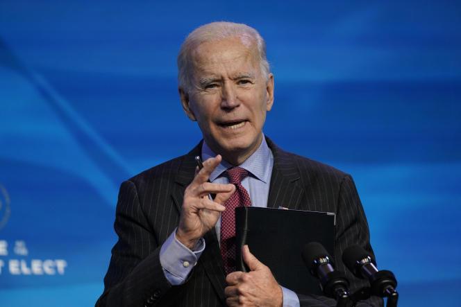 President-elect Joe Biden in Wilmington on Jan.8.