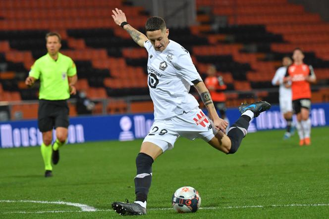 The fourth and last Lille goal in Lorient is signed Domagoj Bradaric, Sunday February 21.