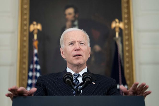 US President Joe Biden at the White House in Washington, DC on April 6.