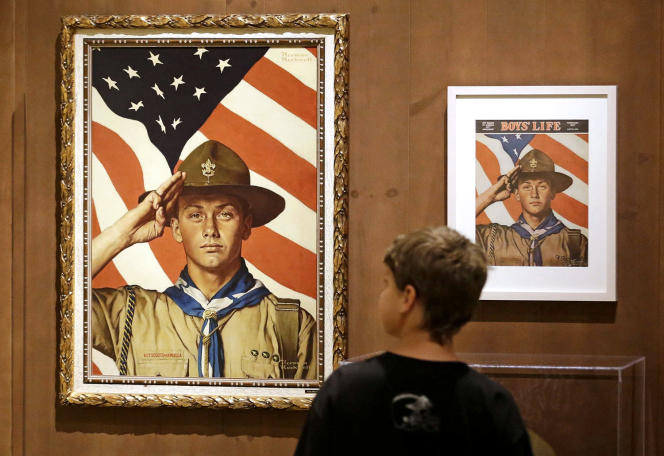 Exhibition of paintings by Norman Rockwell belonging to the Boy Scouts of America, in Salt Lake City (Utah), in 2013.