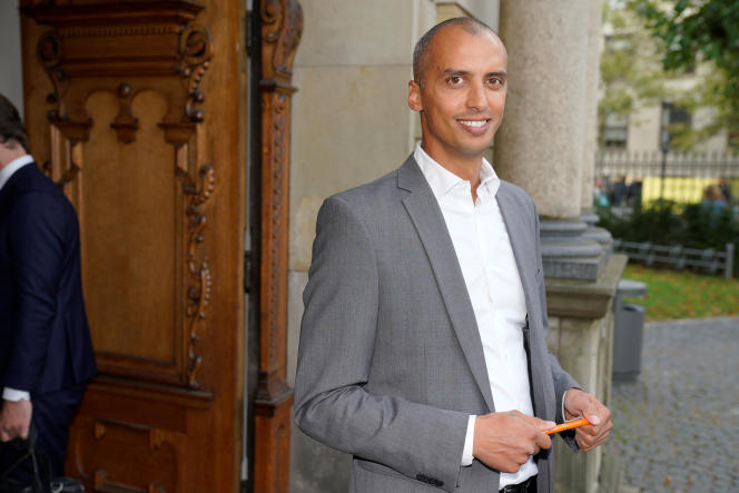 Denmark's Minister of Immigration and Integration Mattias Tesfaye in front of Holmens Church in Copenhagen on October 6, 2020.