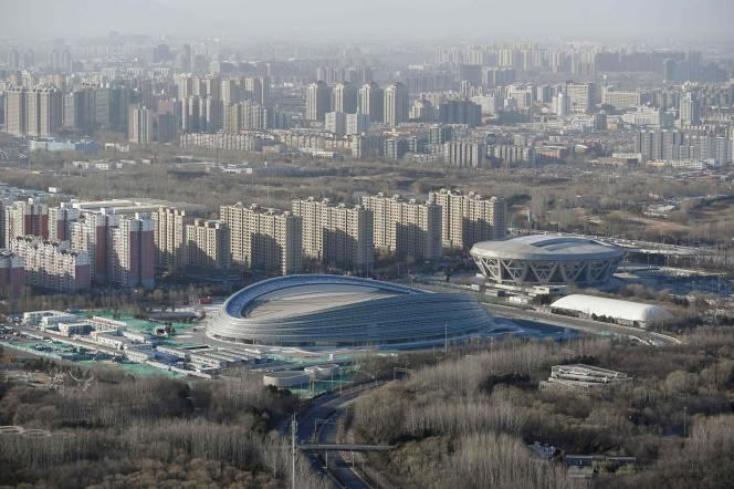 View of the compound that will host the speed skating events at the 2022 Olympic Winter Games, which will be held in Beijing, China.