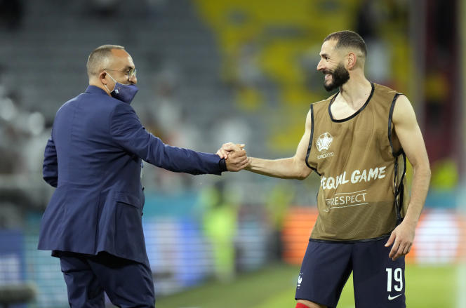 Karim Benzema after the match against Germany on Tuesday June 15th.