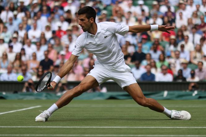 Novak Djokovic on July 11, 2021 in Wimbledon, UK.
