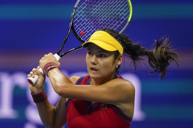 Emma Raducanu in the US Open semi-final against Maria Sakkari on September 9.