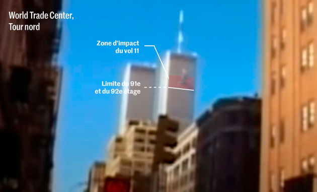 Image of American Airlines Flight 11 slamming into the North Tower of the World Trader Center, cutting off all occupants beyond the 91st floor from the world.