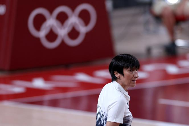 Valérie Garnier, 56, won the bronze medal with the Bleues at the Olympic Games in Tokyo.